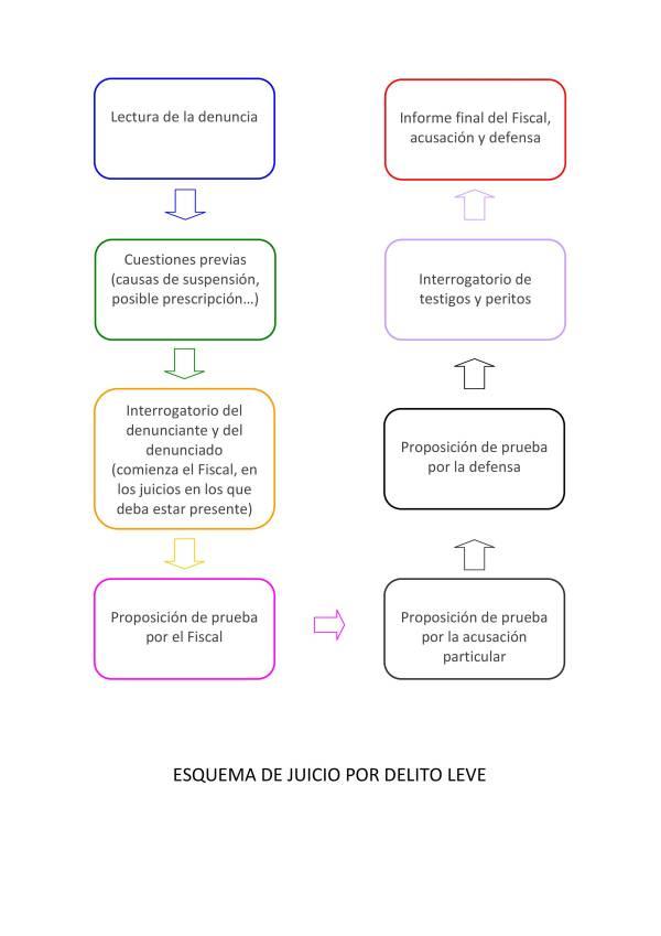 ESQUEMA JUICIO POR DELITO LEVE ALONSO & WEBER